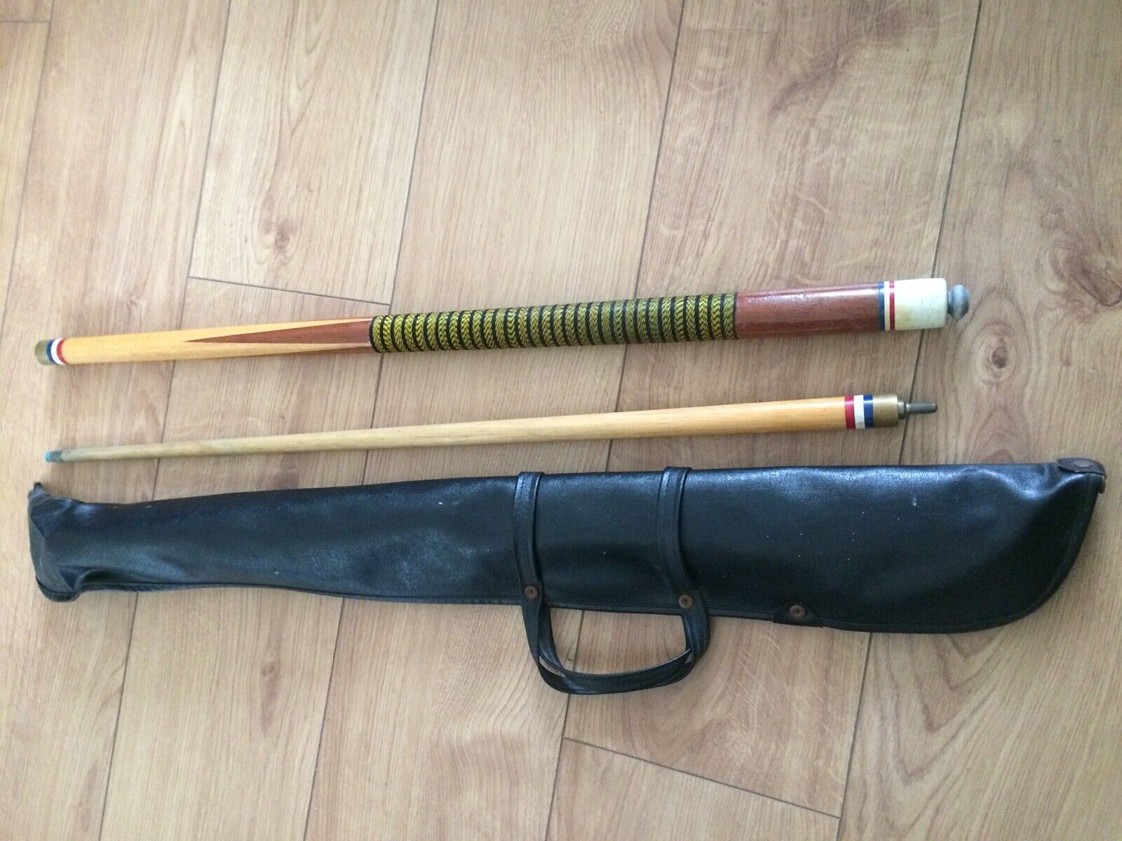 Vintage Wood Snooker Cue