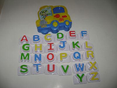 Leap Frog Fridge Phonics Magnetic Alphabet SCHOOL BUS Letters ABC Complete A-Z