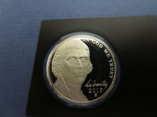 """2019 """"S""""  Jefferson Nickel, Gem Proof FROM THE SILVER SET $"""
