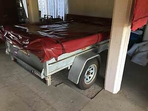 Camper trailer on road Innisfail Cassowary Coast Preview