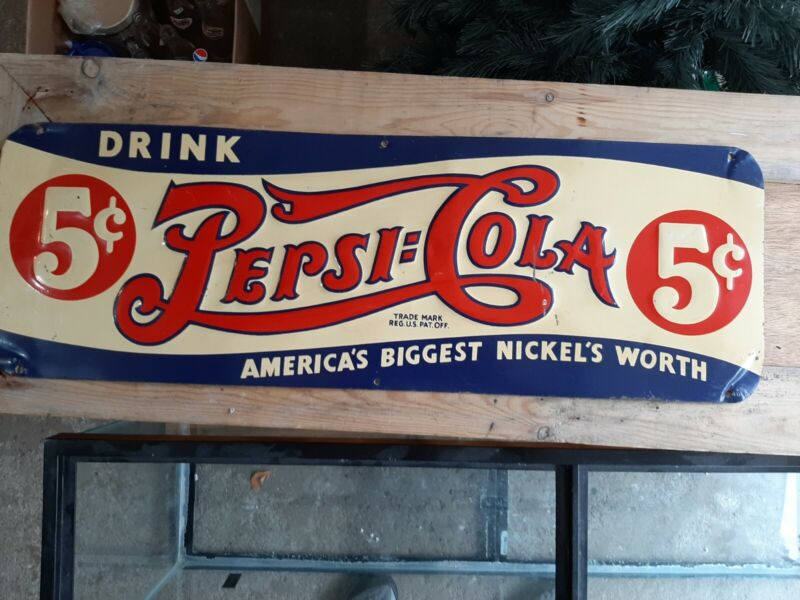 "Pepsi-Cola Embossed ""America"