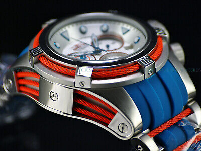 Invicta NFL OFFICIAL MIAMI DOLPHINS 52mm Bolt Zeus Chrono Silicone Strap Watch