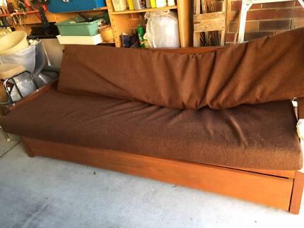 Solid wood Custom made sofa bed circa 1950 Caulfield Glen Eira Area Preview