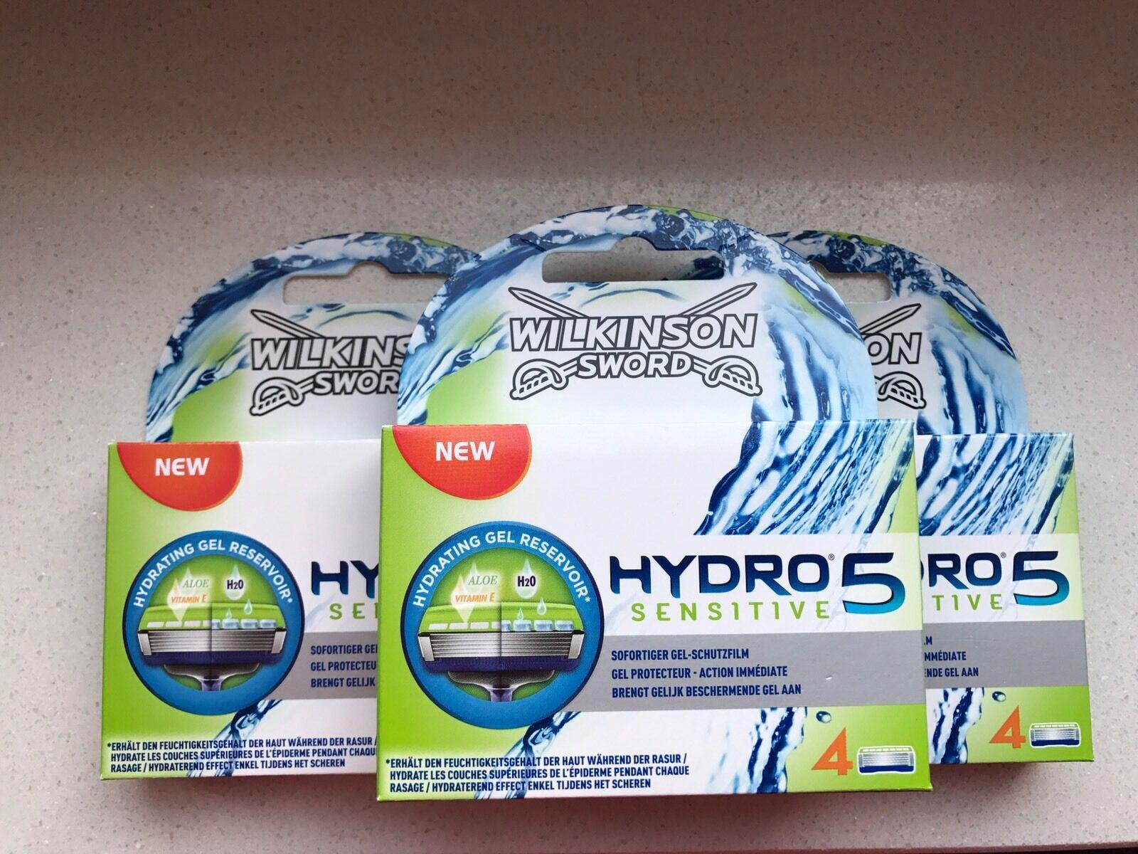 12 Wilkinson Sword Hydro 5 Sensitive Rasierklingen Neu OVP