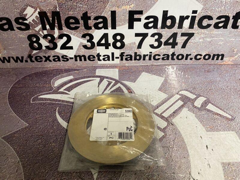 "Hubbell S3082 Scrubshield Floor Boxcarpet Round Brass Flange 6 1/4""DIA"