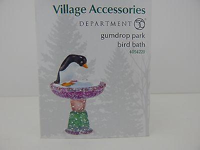 Dept 56 Village Gumdrop Park Bird Bath #4054220 New in Box Never Displayed