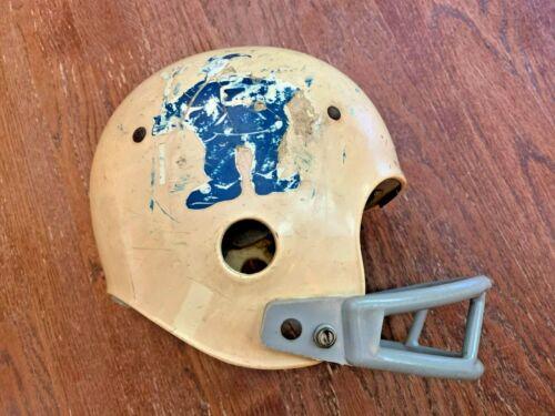 Vintage 1950s-60s Duke Blue Devils Football Helmet made by Spalding Size 6 1/2