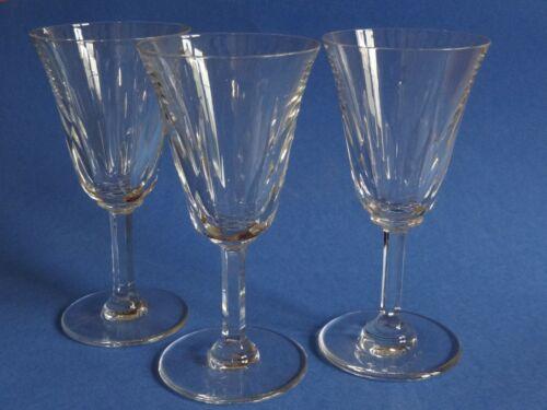 "THREE VINTAGE WINE BURGUNDY GLASSES CRYSTAL ST LOUIS PATTERN CERDAGNE 6,30"""