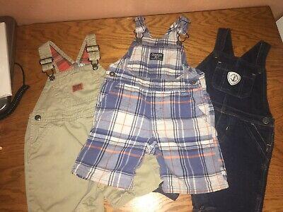 Boys 24 Month Overall Shorts Lot Carter's Osh Kosh - Free Shipping