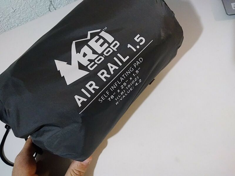 REI AirRail 1.5 Self-Inflating Sleeping Pad Long Wide: 78 x 25 x 1.5 inches