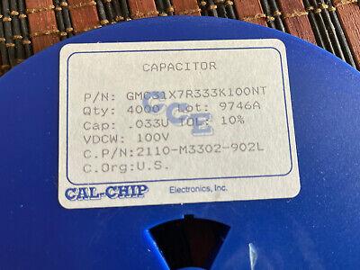 Capacitor Ceramic .033 Uf 100 V 1206 Smd 4000 Pcs
