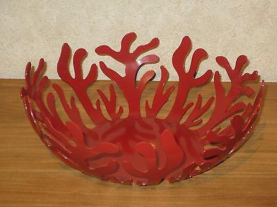 ALESSI *NEW* Porte-fruits acier rouge D.29cm H.11cm ESI01/29 R LPWK/Silvestris