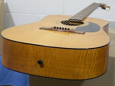 VINTAGE 1968 HOFNER WESTERN ACOUSTIC GUITAR 489 FLAME MAPLE BODY NECK W GERMANY