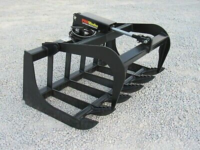 Tractor Skid Steer Attachment - 48 Root Rake Grapple Bucket - Free Ship
