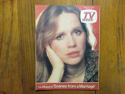 March 6  1977 Chicago Tribune Tv Week Mag Liv  Ullmann Diana  Ross The Supremes