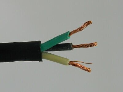 NEW 20/' 4//3 SOOW SO SOO SOW BLACK RUBBER CORD EXTENSION WIRE//CABLE