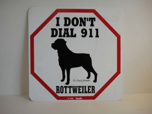 Vintage 1996 Rottweiler Caution Dog Sign I Don