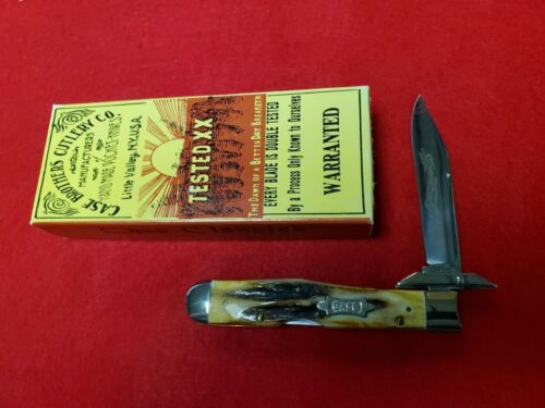 CASE CLASSIC 51011 1/2 SS Long Pull Cheetah pocket knife Bow-tie shield.