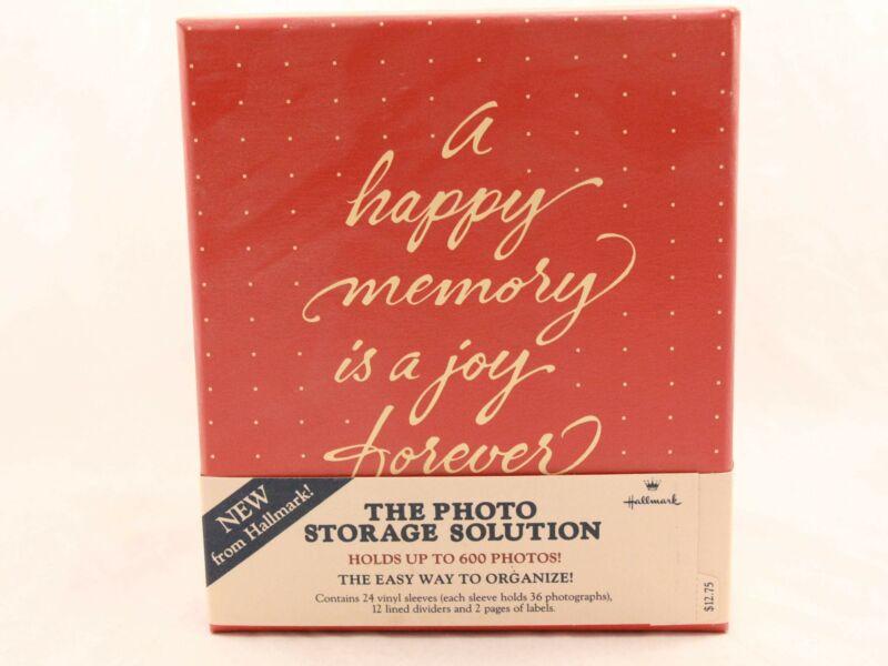 "1984 Hallmark ""The Photo Storage Solution Box"" Up to 600 Photos. New/Old Stock"