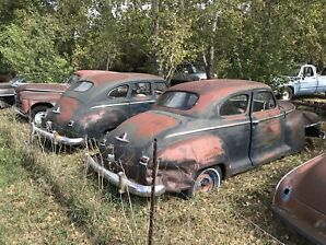 1947 Plymouth Coupe w/4dr parts car 1500.00 OBO
