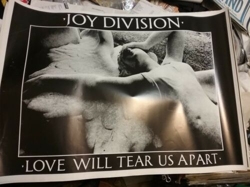 JOY DIVISION 1980S LOVE WILL TEAR US APART UK 25 X 35 POSTER NMINT RARE VTG HTF!