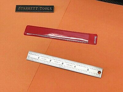 Starrett No.604r-6  6 Long Spring-tempered Steel Ruler With Inch Graduations.
