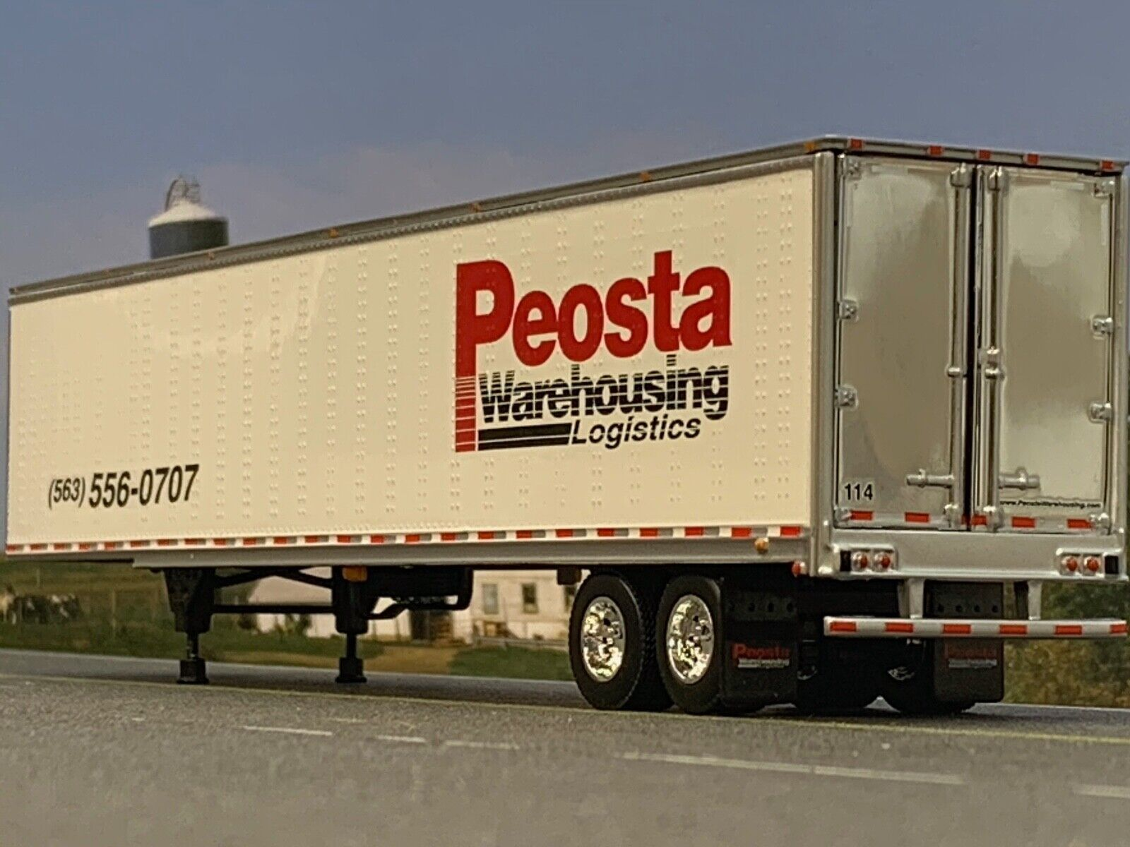 1/64 DCP PEOSTA WAREHOUSING 53' UTILITY 3000D-X DRY VAN TRAILER 1