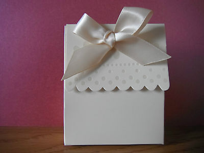 IVORY PURSE STYLE FAVOUR GIFT BAG (22 IN PACK)