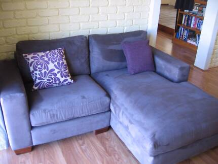 LOUNGE 2 Seater CHAISE in SUEDE Port Macquarie 2444 Port Macquarie City Preview