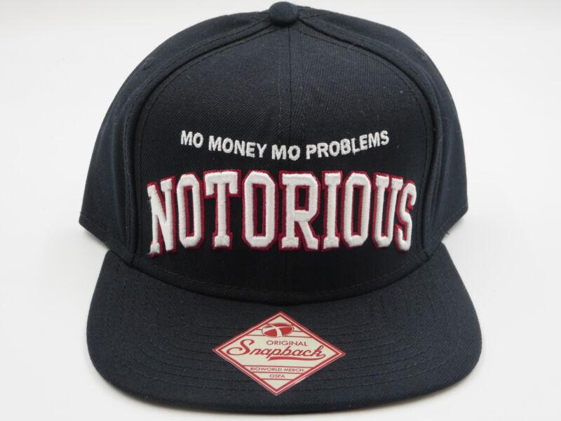 Biggie Notorious BIG Black Throwback Retro OG Jordan 1 Snapback Hat Cap SALE