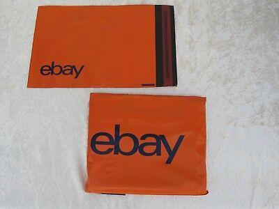 50 Ebay Branded Orange Plastic Envelopes Mailing Bags 190mm x 260mm Brand New