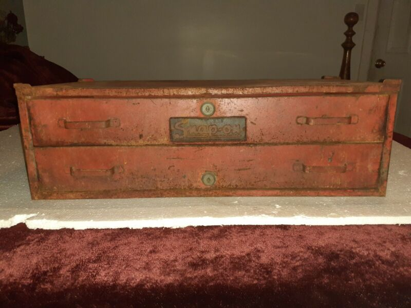 Vintage Snap-On 2 Drawer Top or Middle Mechanics Tool Box Chest 1960