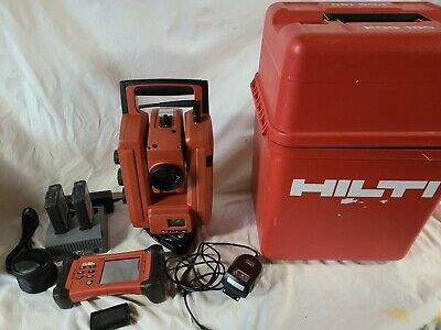 Hilti Pos180 3 Robotic Survey Layout Total Station W Poc100 Data Collector
