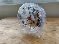 Equity by La Crosse Wind-Up Mechanical Alarm Clock (14073) - New, Clear