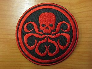 Marvel-Comics-Captain-America-Movie-Hydra-Logo-Embroidered-Iron-on-Patch