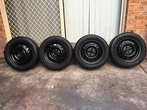 Toyota Yaris wheels and tyres 14 inch set of 4 Revesby Heights Bankstown Area Preview