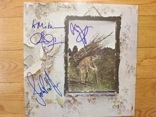 Led Zeppelin firmó lp por 3 coa + Prueba! Jimmy Page Robert Plant John Paul Jones