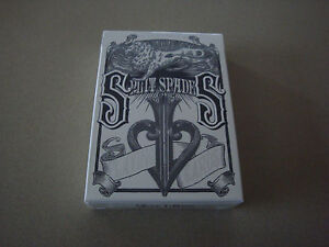 SILVER-SPLIT-SPADES-DECK-OF-PLAYING-CARDS-BY-DAVID-BLAINE-POKER-MAGIC-TRICKS