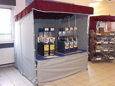 NEU 2x2m Verkaufsstand Slush Eis Stand Popkorn Stand Waffel Stand Flohmarktstand