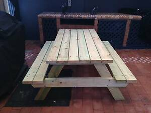 Outdoor timber Picnic Tables Corrimal Wollongong Area Preview