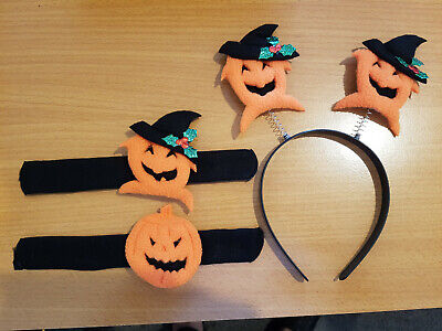 Halloween Hairbands and Wristband Brand New