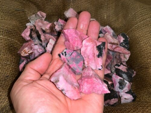 500 Carat Lots of High End Rhodolite Rough + a FREE faceted Gemstone