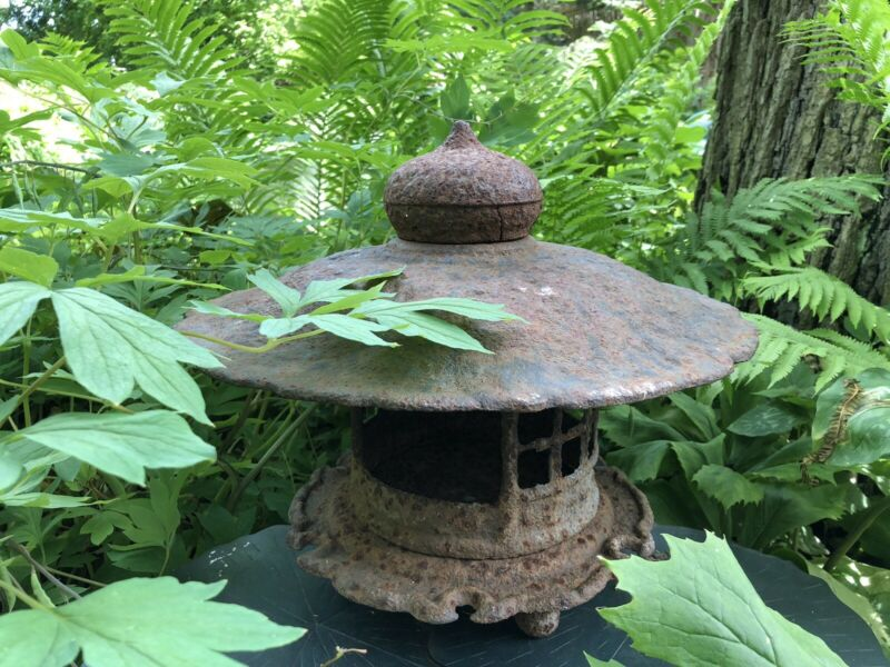 RARE Antique Japanese Cast Iron Pagoda