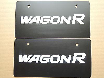 JDM SUZUKI WAGON R Original Dealer Showroom Display License Plates Pair