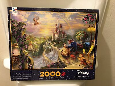 Beauty & Beast Falling in Love Puzzle Disney Thomas Kinkade 2000 pcs Ceaco COMP