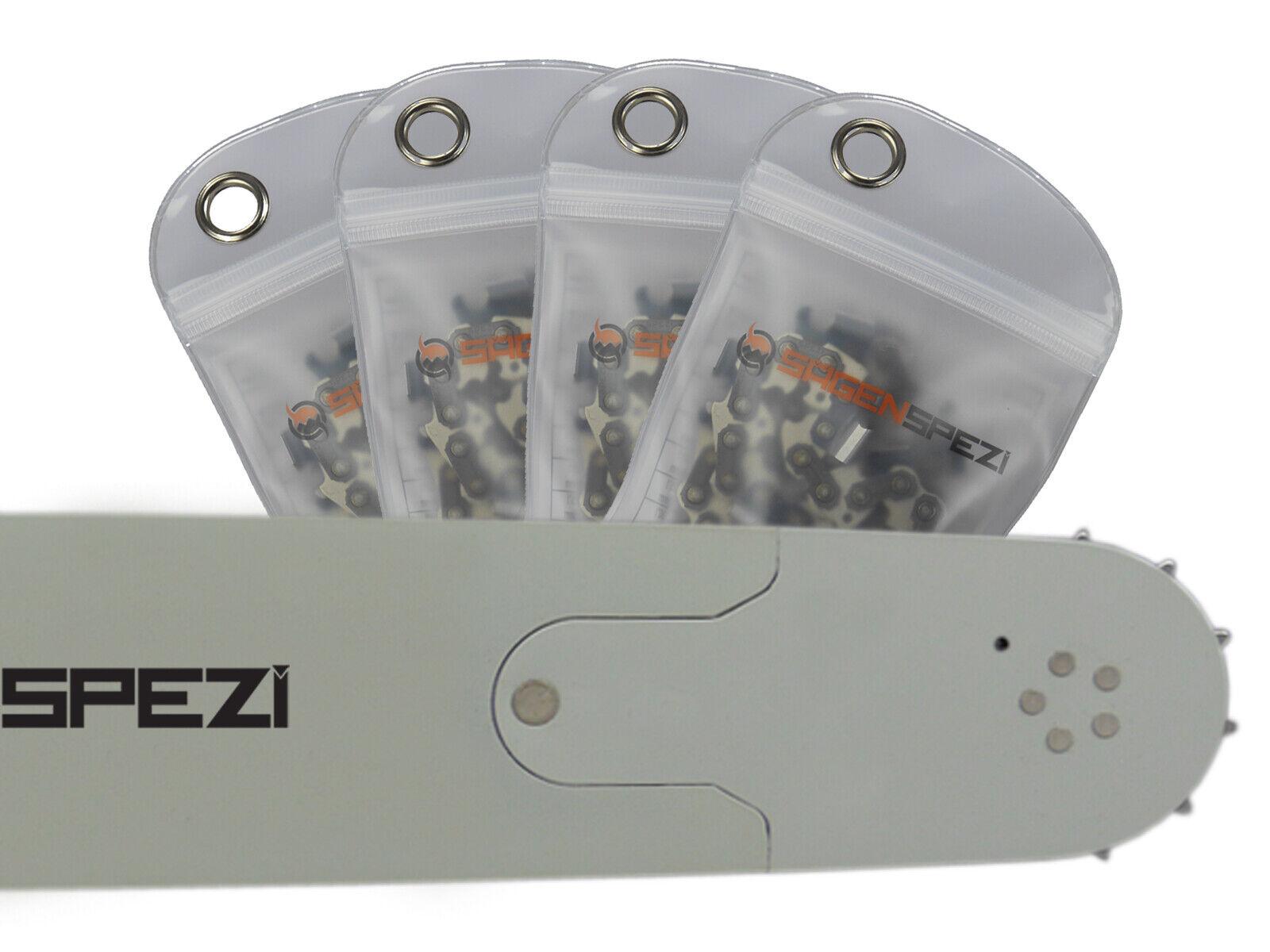 "4 Sägeketten Schwert passend Dolmar PS7300-50cm 3//8/"" 72TG 1,5mm"