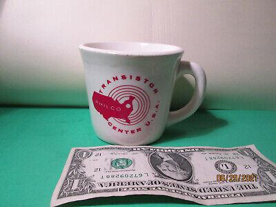 Vintage PHILCO transistor Radio Company coffee mug small. USA