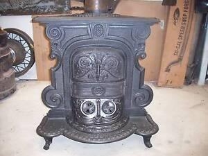 Cast Iron Ornate wood heater Hackham Morphett Vale Area Preview
