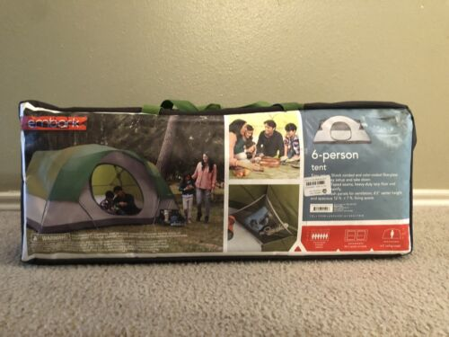 Embark 6 PERSON Tent Camping New In Box 4350