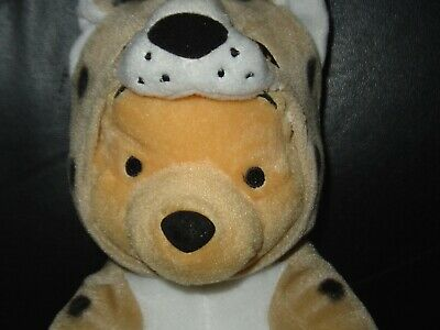 Disney Winnie The Pooh Plush Wearing a Leopard Costume Soft Toy Comforter
